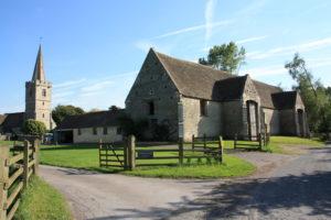 church and tithe barn at Ashleworth
