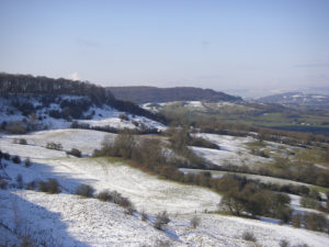 snowy landscape from Barrow Hill